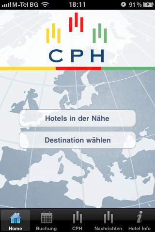 iPhone App der CPH Hotels