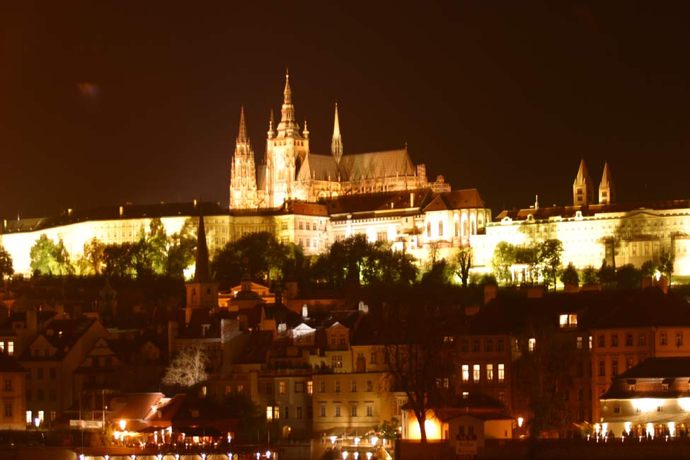 Points of Interest, Prague castle by night