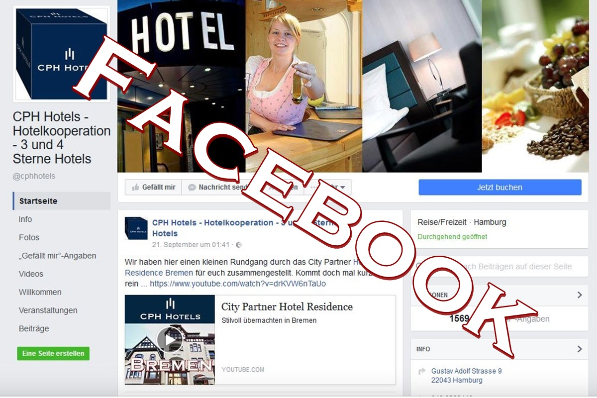 CPH Hotels, Facebook, Social Media, Web 2.0